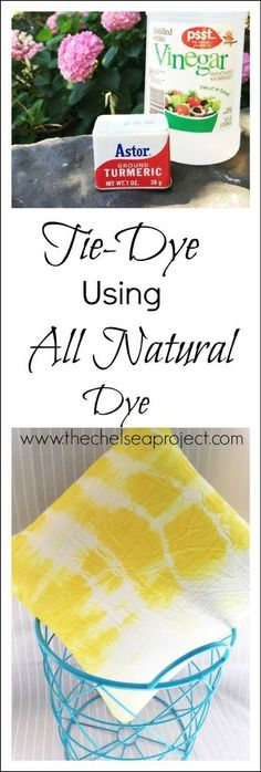 Tie-Dye Fabric Using Turmeric -- Yes! The Kitchen Spice