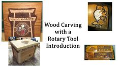 Rotary Tool Wood Carving Introduction... This series is going to start off slow, but there is information I feel you will need to have. Bare with me, it will get to the actual wood carving.