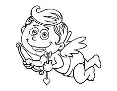 Dibujo de Diablo y cupido para colorear  Dibujos de San Valentn