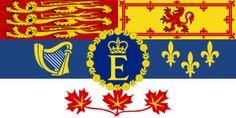 Royal Standard of Her Majesty Queen Elizabeth II, Queen of Canada.