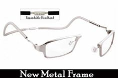Clic Magnetic One Metal Frame Readers in Platinum CliC. $74.99
