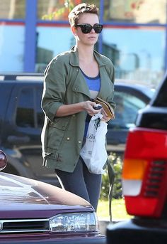 Current/Elliott Infantry Jacket in Army - as seen on Charlize Theron  $268
