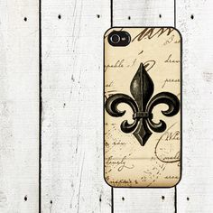 Vintage Brown Fleur de Lis iPhone Case- for iphone 4,4s and iphone 5 on Etsy, $16.00