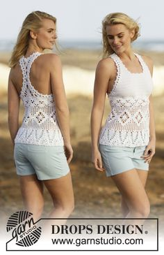 The most wanted #crochet top this year! #FreePattern now available from #DROPSDesign