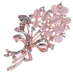 2730729d2 Opal Stone Flower Brooch Pins //Price: $8.99 & FREE Shipping //