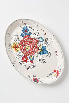 Peony Portrait Platter #anthropologie  Love this platter from #mollyhatch, my old ceramics teacher!