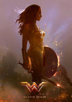 "cinexphile: ""Wonder Woman (2017) by Alan Brooks """