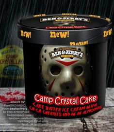 'Human Centi-Peach,' 'Camp Crystal Cake,' and other horror movie-inspired Ben and Jerry's flavors Horror Movie Characters, Horror Films, Horror Art, Horror Icons, Flipper, Crystal Cake, Funny Horror, Scary Funny, Hilarious