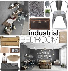 """""""Industrial Bedroom"""" then just add the colors you want Industrial Bedroom, Industrial House, Industrial Interiors, My New Room, Interior Accessories, Home Improvement Projects, Home Bedroom, Home Decor Inspiration, Decoration"""