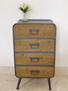 industrial vintage urban style 4 drawer cabinet unit in Home, Furniture & DIY, Furniture, Cabinets & Cupboards | eBay