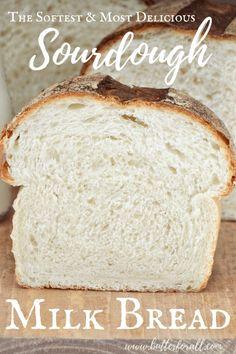 Soft Sourdough Bread, Artisan Sourdough Bread Recipe, Sourdough Starter Discard Recipe, Sourdough Recipes, Soft Milk Bread Recipe, Muffins, Real Honey, Sandwich Bread Recipes, Fresh Milk