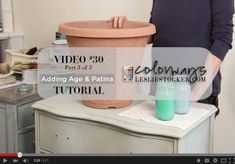 Video #30 Let's Do Terra Cotta, Adding Age & Patina with Chalk Paint | Colorways with Leslie Stocker