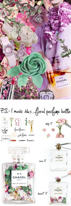 P.S.-I made this..Floral Perfume Bottle #PSIMADETHIS #DIY #INSPIRATION