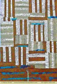 """Image of """"Mending Fences"""" quilt by Maria Groat"""