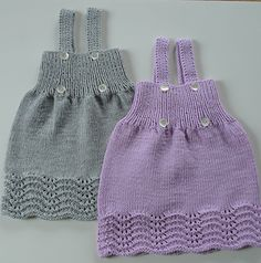 Ravelry: Ellakjole pattern by Kairi Aksnes Girls Knitted Dress, Knit Baby Dress, Crochet Baby Clothes, Baby Knitting Patterns, Baby Wearing, Lace Shorts, Ravelry, Baby Kids, How To Wear