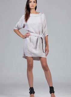 Gray Tweed Tunic Dress #fallfashion