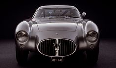 1953-1955. Maserati A6 GCS/53 Berlinetta by Pininfarina. Weight:	740 KG Engine:	L6, FRONT, LONGITUDINALLY MOUNTED  Displacement:    1,985.6 C.C. Power:	125 KW (170 HP) AT 7,300 RPM Top Speed :     235 KM/H Transmission:	MANUAL 4 SPEED