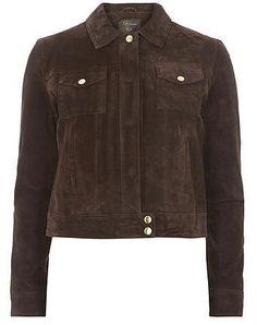 Womens dark brown jacket from Dorothy Perkins - £100 at ClothingByColour.com