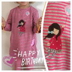 birthday shirt // tunic // tunika // ottobre china girl // vier // four // geburtstagskleid // nähen // sewing China Girl, Lovely Things, Photo Props, Crafts For Kids, Shirt Dress, T Shirts For Women, Sewing, Knitting, Tops