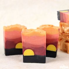 Soap design inspiration can come from anywhere. From fragrances to color, places and people, inspiration can strike at any moment. This Sahara Sunset Cold Process was inspired by the iconic image of an African sunset. As the bright yellow sun sets over the landscape, the silhouettes of wildlife and flora come to life. The bright yellow …