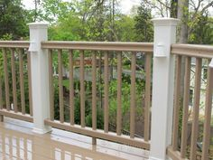 painted porch railing design | Spacious And Porch Railings