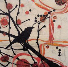 encaustic collage- my work