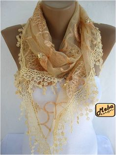 Lace scarf women scarves  guipure   fashion scarf  gift