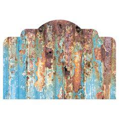 Rusted Metal |Paul Moore Adhesive Headboard | WallsNeedLove