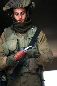 A soldier participates in an air-rescue exercise of the IDF.