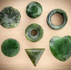 Nephrite jade stone plugs and tunnels from Tawapa. #bodymodification #stretchedears