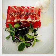 #tuna #tataki #watermelon #goatcheese #chaiandflaxseeds #poolgrill #marriott by glenn_low_singapore