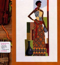 GRAFICOS PUNTO DE CRUZ GRATIS : AFRICANAS