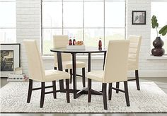 picture of Mabry Espresso 5 Pc Dining Set from Dining Room Sets Furniture