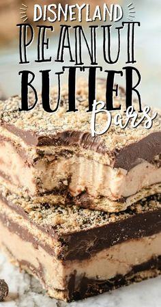 Peanut Butter Sandwich, Peanut Butter Desserts, Köstliche Desserts, Delicious Desserts, Dessert Healthy, Peanut Butter Bars, Chocolate Peanut Butter, Tasty Dessert Recipes, Chocolate Desserts