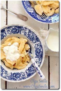 Kluski kładzione z serem - przepis   Kulinarne przepisy Olgi Smile