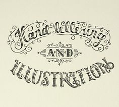 Pretty hand lettering by Ludvig Nevland