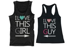 I Love This Girl & This Guy Matching Couple Tank Tops (Set)