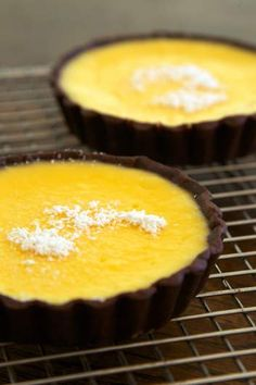 Lemon chocolate tarts