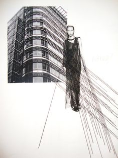 Fashion Sketchbook exploring architecture within fashion - fashion design development; fashion portfolio // Abbie Ridler