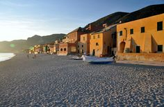 Varigotti shore at sunset, Savona - Italy