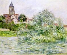The Church and the Seine at Vetheuil by Claude Monet (France)