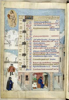 January. British Library's 'Isabella Breviary,' created for Queen Isabella of Castile (1451 - 1504).