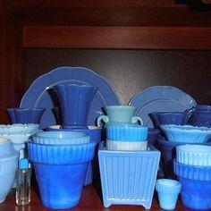 Blue, blue how I ❤️you! Blue Pottery, Agate