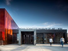 Image 2 of 22 from gallery of The Jordan Schnitzer Museum of Art / Olson Kundig. Photograph by Nic Lehoux Museum Of Fine Arts, Art Museum, Engineering Consulting, University Life, Glass Facades, Entrance Design, Architect Design, Home Art, North America
