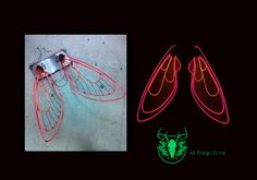 Mecha El Wire costume and cosplay wings by AllThingsEcco on Etsy - Light Up Costumes, Cool Costumes, Costume Ideas, Cosplay Costumes, Halloween Costumes, Cosplay Ideas, Halloween Ideas, El Wire Costume, Electroluminescent Wire