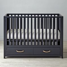 Topside Midnight Blue Crib  | The Land of Nod