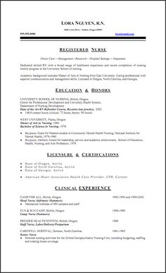 Sample New Rn Resume | Nurse Resume Samples  Nurse Resume Samples