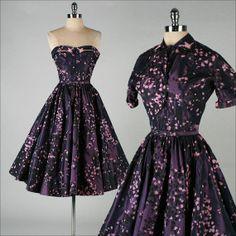 vintage 1950s dress . MINX MODES . purple ...