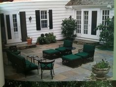 bluestone patio with french doors