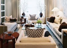 Living Room. Interior by Ron Marvin, TradHome Magazine.  Absolutely love!